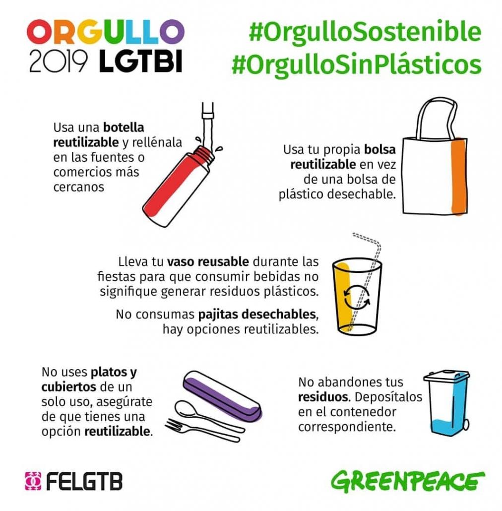 Orgullo 2019 LGTBI #OrgulloSostenible libre de plásticos de un solo uso!