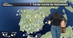 Maria Gómez previsión meteorológica en Halloween