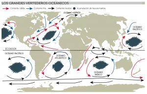 Mapa de la contaminación del mar