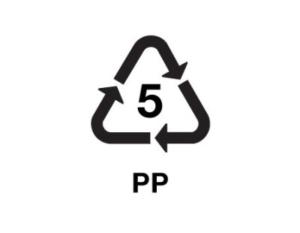 simbolo reciclaje PP