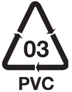 simbolo de reciclaje PVC