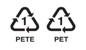 simbolo de reciclaje PET