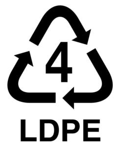simbolo de reciclaje LPDE