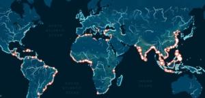 mapa interactivo que permite conocer la cantidad de plástico