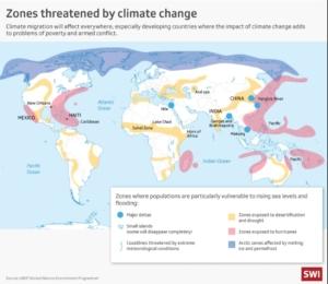 mapa de las migraciones climáticas